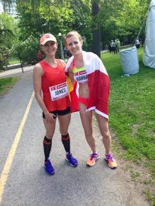 Post race with Rachel Hannah (Top Canadian in 2:33! Incredible!)